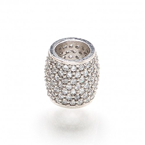 inSPire white gold charm (Compatible with Pandora)
